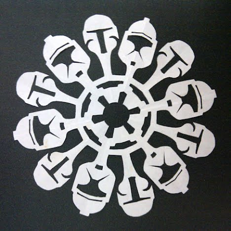 Boba Fett and Clone Trooper Snowflake
